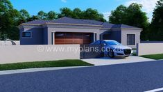 3 Bedroom House Plan – My Building Plans South Africa Garage House Plans, Family House Plans, Village House Design, Village Houses, Contemporary House Plans, Contemporary Bedroom, Round House Plans, Single Storey House Plans, House Plans South Africa