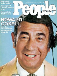Cosell was admitted to the bar in the state of New York in 1941, but when the United States entered World War II at the end of that year he commissioned in the United States Army as an officer with its Transportation Corps. At the war's conclusion in 1945, he was discharged from the United States Army with the rank of Major. People Magazine, Famous Veterans, Baltimore Colts, Yankees News, New Saints, Prime Time, Saturday Night Live, Sports Photos, Vintage Magazines