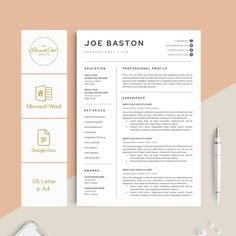 This RESUME TEMPLATE BUNDLE is fully editable and easy to edit in Microsoft Word & Google Docs. You can move and duplicate any details in the template. You can change the fonts, font size, text color, layout, delete anything you do not need. If you don't like the color of lines or icon be free to change it into another. And so quickly to add one or more resume pages with detailed instruction (You can also email us to help that).