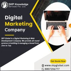 SKP Global is a 360° Digital Marketing & Web Development Company. We provide all-round services in building & managing a brand from Zero to Top. #digitalmarketing #seo #smo #digitalmarketingcompany #searchengineoptimization #SEM Online Marketing Companies, Online Marketing Strategies, Digital Marketing Services, Web Development Agency, Software Development, It Services Company, Competitor Analysis, Search Engine Optimization, Business Card Design