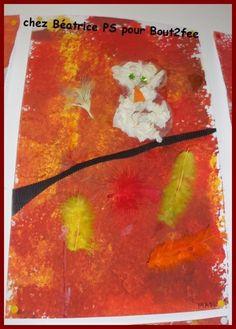 Fond la peinture l 39 ponge chouette faite en froissage for Technique de peinture murale a l eponge