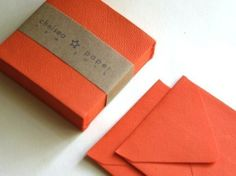 Lave Orange mini 2 3/4 x 2 3/4 carré enveloppe par ChelseaPaper, $4.95