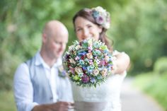 Foodie Nature Museum Wedding Pretty Summer Bridal Bouquet http://larajanethorpephotography.com/