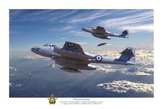 Pacific Victory Roll - Gloster Meteor Aviation Art - Final Encounter - RAAF 77 Squadron Meteors over Korea by Mark Donoghue. Gloster Meteor, Aviation Theme, Aviation Art, Military Jets, Military Aircraft, Aircraft Painting, Navy Aircraft, Aircraft Design, Korean War