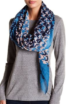 Houndstooth Print Oblong Scarf Houndstooth, Nordstrom Rack, Jeans, Casual, Style, Fashion, Swag, Moda, Fashion Styles