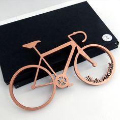 Geschenkidee für Fahrradfahrer, 3D Rennrad / gift idea for cyclists, 3D bike by NOGALLERY 3D Schriftzüge via DaWanda.com