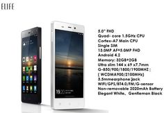 Gionee Elife E6 Specifications Revealed at global launch.