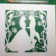 The latest papercut on my mat. Papercutting, Beauty And The Beast, Fairytale, Instagram, Fairy Tail, Fairytail, Fairy Tales, Adventure Movies