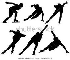Long track and short track speed skate stances