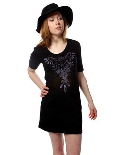 Creature of the Night - Tshirt Dress - Cat Coven