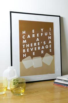 """Hey! Careful man, there's a beverage here"" The Big Lebowski A3 Art Print"