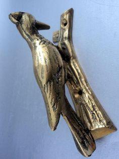 Brass Bird Door Knocker Woodpecker Unusual
