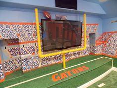 Delightful Florida Gators Theme Home Theater Room