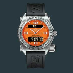The #Breitling Emergency watch has an emergency transmitter on its back. To activate it, the wearer unscrews the large safety button and pulls out the antenna. For the next 48 hours, the transmitter will send out an SOS signal on an emergency frequency. If you're on level terrain or floating on a calm sea, a search plane within 100 miles of you will be able to pick up your signal.