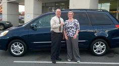 Folger Subaru Internet Sales Consultant Jim Gamble with Mrs. Holt and her 2004 Toyota Sienna minivan!