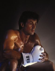 Sylvester Stallone in Rocky IV..Handsome back in the day