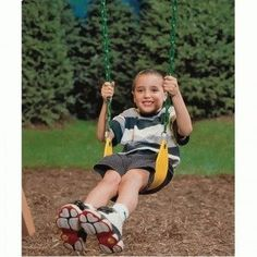 Swing Seat by Playstar Inc.. $27.01. PS 7948 Features: -Swing seat.-Allows you to reach for the sky, and is flexible and comfortable.-Soft seat surface forms to child hips.-No uncomfortable chains running underneath seat for support.-Swing hangers sold separately.-Heavy-duty welded-link chain with soft rubber coating.-120 lbs rating.-Proudly made in the U.S.A.. Warranty: -Full 10 Year warranty.