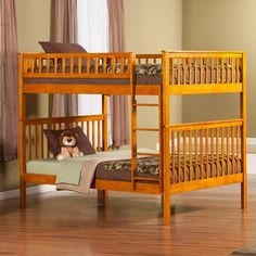 Atlantic Furniture Woodland Full over Full Bunk Bed Finish: Caramel Latte