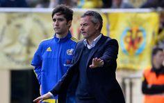 Escriba durante el partido ante el Villarreal.