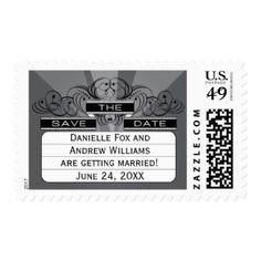 Wedding Save the Date Postage | Movie Marquee