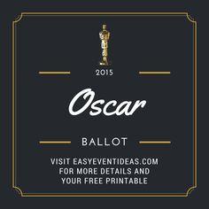Free Oscar Ballot download 2015