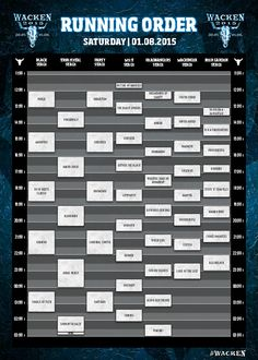 Running Order Wacken Open Air 2015 - Samstag W:O:A