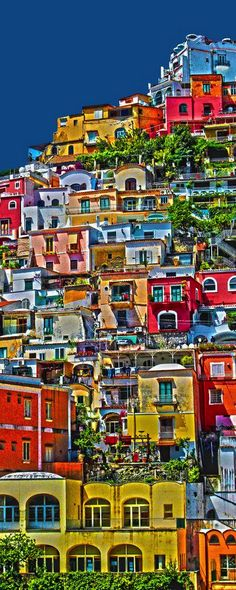 Colorful hillside living in Positano ~ Amalfi Coast, Italy