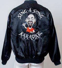 Sing a Song Karaoke Satin Jacket Coat Entertainment GAG DJ Mod Promo Mens XL #Promotional #BasicJacket