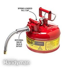 Small-engine mechanics tell us that stale gas is what keeps them employed and… Engine Repair, Small Engine, Home Repairs, Fire Extinguisher, Diy Cleaning Products, Deco, Home Remedies, Garden Tools, Home Improvement