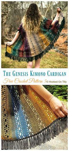 36de250df5b6fe Women Kimono Cardigan Free Crochet Patterns