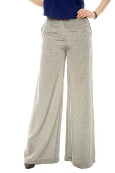 Silk Palazzo Pants with dots! Great for the office, and very lightweight and comfy