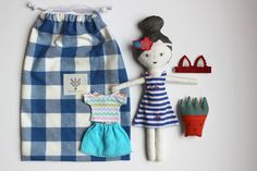 doll  friendly plant set by LittleCabinHandmade