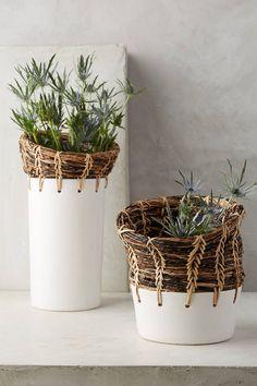Anthropologie Seagrass Vase