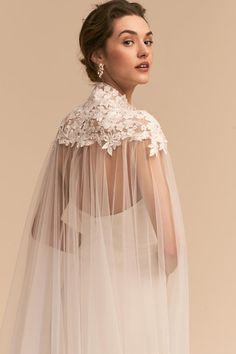 Bridal Wedding Jewelry Vincent Cape Ivory in Shoes Wedding Cape, Bridal Cape, Boho Wedding, Wedding Gowns, Wedding Bolero, Wedding Jewelry, Hair Wedding, Wedding Makeup, Wedding Shoes