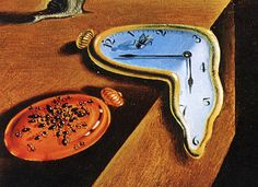 Persistence of Memory by Salvador Dali - learn more about the history of this famous painting. Dali Clock, Geometric Shapes Drawing, Clock Drawings, Salvador Dali Paintings, Dali Tattoo, Melting Clock, Clock Painting, Silhouette Pictures, Tatoo