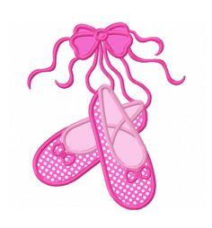 Descarga instantánea Ballet zapatos apliques bordados máquina no diseño: 1313