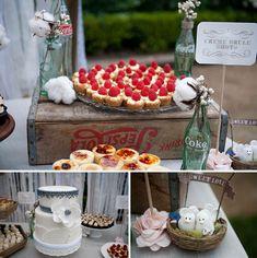 Vintage Outdoor Wedding-Crème Brule Shots!!  www.MadamPaloozaEmporium.com www.facebook.com/MadamPalooza