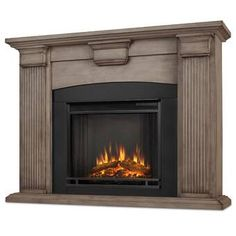 Real Flame Dry Brush White Adelaide 4700 BTU Freestanding Blower Forced Electric Heater with Remote Control and Digital Controls Fireplace Heater, Home, Home Improvement, Cool Things To Buy, White Fireplace, Indoor Fireplace, Fireplace, Fireplace Inserts