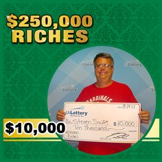 "Steven Swift of #DesMoines purchased his winning $10,000 ""$250,000 Riches"" scratch ticket at his local Casey's on E. 14th St. #WooHooForYou"