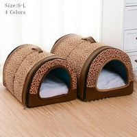 Collapsible Portable Pet House Warm Soft Dogs Kennel Pets Cats Bed Welcome to our store,wish you have a nice shopping! Portable Dog Kennels, Diy Dog Kennel, Animal House, Large Dogs, House Warming, Nice Shopping, Plush, Cats, Bed