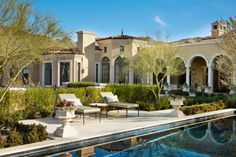 A classic sq ft Mediterranean style estate located in Scottsdale Arizona with old-world design details by Candelaria Design Associates Versailles, Design Blogs, Design Concepts, Outdoor Living Rooms, Mediterranean Home Decor, Scottsdale Arizona, My Dream Home, Dream Homes, Old World