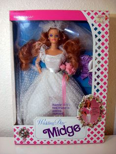 1990 Wedding Day Midge Barbie Doll..i had this! one of my faves!