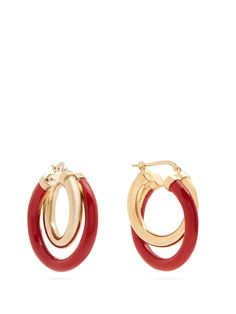 Click here to buy Peter Pilotto Medium double hoop earrings at MATCHESFASHION.COM