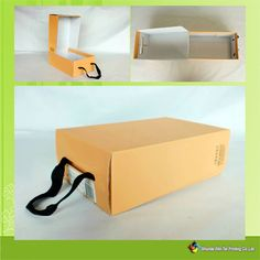 Matt lamination color printed shoe packaging box for children!Kids shoe box~with handle~