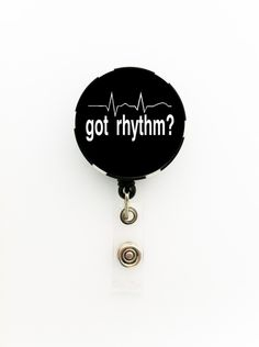 Got Rhythm Badge Reel; Heartbead Badge Reel Poker Chip Retractable ID Name Badge, Keychain, or Pin, Gift for Nurses; Cardiac or ER Nurse by TrendyArtz on Etsy https://www.etsy.com/listing/209734769/got-rhythm-badge-reel-heartbead-badge