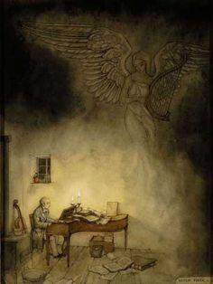 Anton Pieck (1895-1987), Schubert at the piano