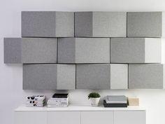 Acoustic fabric wall tiles TRILINE WALL by Abstracta | design Anya Sebton