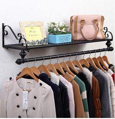New bedroom diy closet garment racks 52 Ideas Kids Clothing Rack, Clothing Displays, Wall Mounted Clothing Rack, Em Home, Organizar Closet, Hanging Clothes, Clothes Rail, Clothes Hanger, Garment Racks