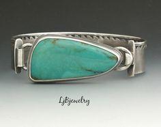 Turquoise Bracelet Silver Bracelet Turquoise by LjBjewelry on Etsy