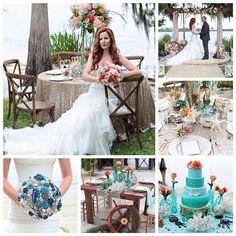 #Фантазия на тему #свадьба в морском #стиль'е от @tabmccausland и @weddingsites #topweddingblogsbrideandstyle #морскаясвадьба #море #цветы #декор #сервировка #жених #невеста #платье #свадебноеплатье #букет #wedding #groom #bouqet #weddingcake #romance #weddinggown #flowers #bride #marriage #sea #seastyle #style #decoration #brooches #summer #season